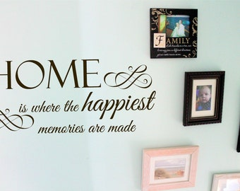 Home is where the happiest memories are made decal