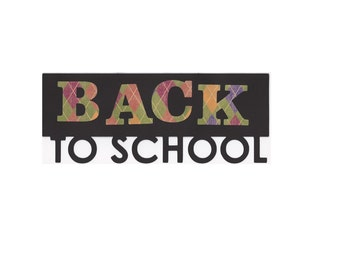 Back to School Title Words Die Cut