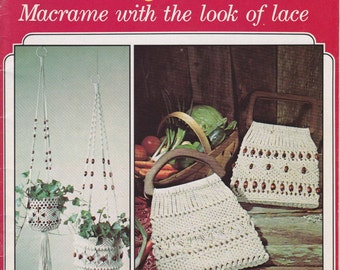 Fancy Knots - Macrame With the Look of Lace  - Macrame Designs 1977  Vintage Macrame Knotting