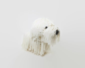 Komondor Stuffed Animal Crochet Dog Amigurumi Puppy Plush Toy Doggie / Made to Order