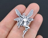 4 Fairy Charms Antique Silver Tone Large Size - SC210
