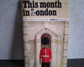 Vintage Mid Century Travel Guide - This Month In London