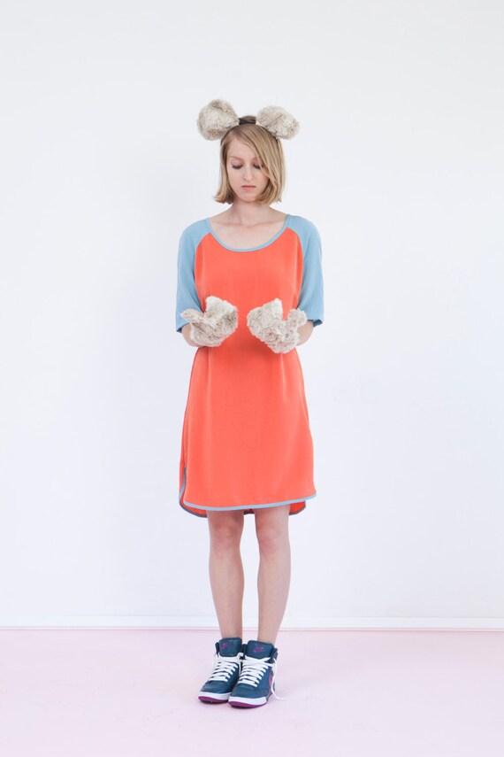 Orange baseball tee shirt dress retro style jersey by biantika for Baseball jersey shirt dress