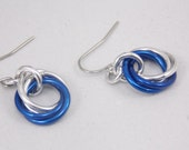 Silver and Blue Vortex Earrings
