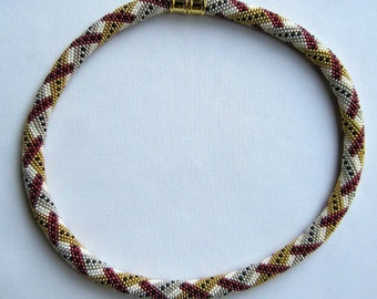 Bead Crochet Necklace Pattern:  Morse Code Bead Crocheted Necklace Pattern