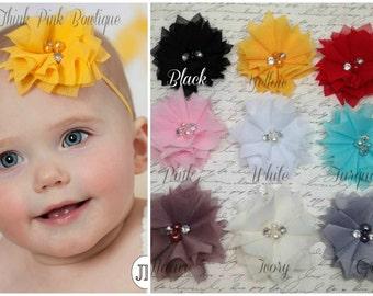 PICK THREE,Baby Headbands,newborn headband,Infant Headband, Toddler Headband,pink white yellow Baby girl Headband, Hair Bows, Hair Clips.