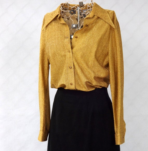 Womens Sparkly Gold Shirt