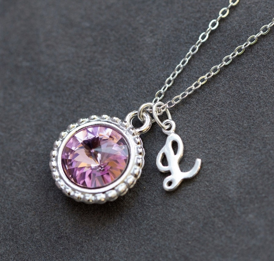 birthstone jewelry for june birthstone necklace personalized initial jewelry 7371