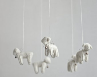 nursery mobile - baby crib mobile - Lamb mobile - Sheep mobile