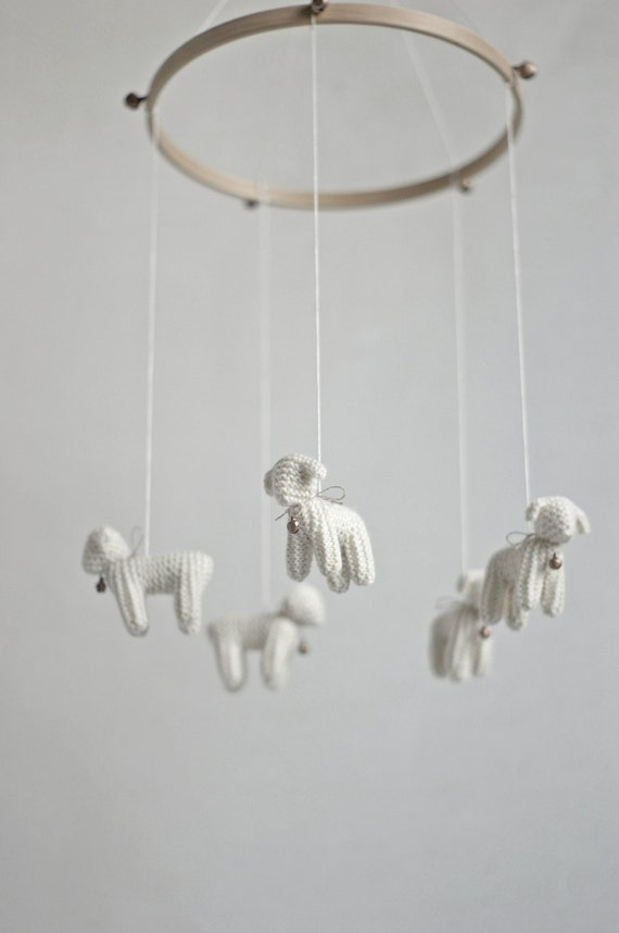 nursery mobile - baby mobile - Lamb mobile - Sheep mobile
