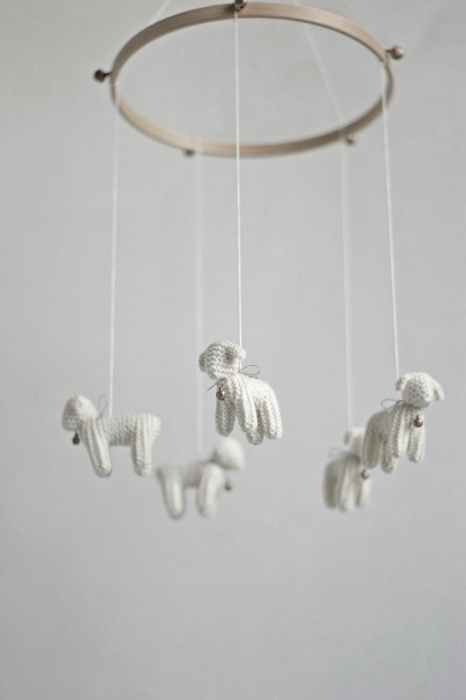 Nursery Mobile Baby Mobile Lamb Mobile Sheep Mobile