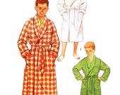 Vintage 1950s Robe Pattern Uncut Unisex Chest Bust 32 Size 14 Simplicity 2313