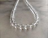 Clear Crystal Quartz strand necklace