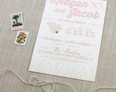 Blush and Taupe Coastal Save the Date