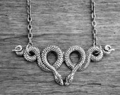 Silver Snake Necklace Snake Jewelry Serpent Necklace Serpent Jewelry Gothic Goth Witchcraft Witch Craft Voodoo Snakes Occult Wiccan Pagan