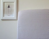 Organic Crib Sheet - Dottie - Grey and Cream - Shroom - Baby Crib Sheet - Fitted Crib Sheet - Grey Dot