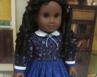 18 Inch Doll Clothes for American Girl Dolls - A School Dress for Cecile or Marie-Grace
