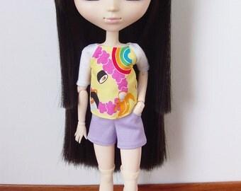 Kawaii blouse, shorts and socks for Momoko / Pullip / 27cm Obitsu or PN Azone S/M
