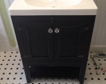 Bathroom vanity, black, cabinet
