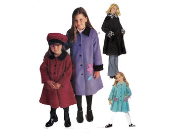 "Toddler Coat Sewing Pattern Girl's Coat and Hat UNCUT Size 3 4 5 6 - Breast 22-25"" (56-64 cm) McCall's 3798 - S"