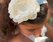 Girl Headband Ivory couture modern look for newborn toddler child girl or adult