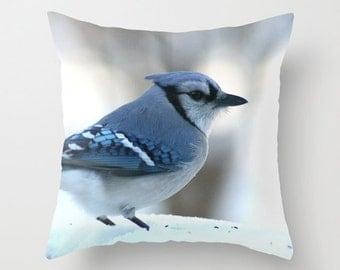 Blue Jay, Bird Pillow Cover, Wildlife Pillow Case , Animal Pillow Cover, Bird Pillow Case