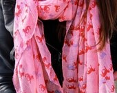 Horse Scarf- Pink