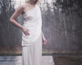CUSTOM Silk Gown, Draping Silk Charmeuse, Open Sides