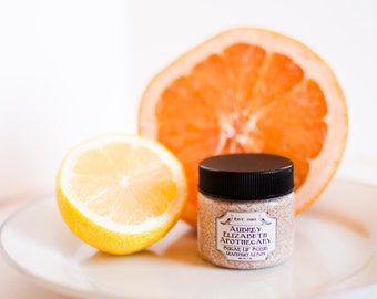 Grapefruit Lemon Lip Scrub - all natural & vegan sugar lip polish -  2 in 1 scrub and balm - exfoliate and hydrate