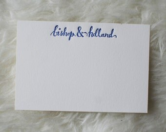 Letterpress Calligraphy Note Cards