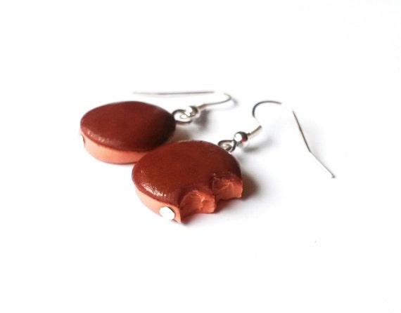 Donut earring polymer clay casero