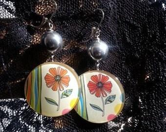 FLOWER Power Dangle Earrings by AfterWork