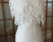 1930s Inspired Silk organza wedding dress fairie wedding lace Claire Pettibone inspired