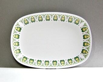 1970s Noritake Progression 9020 Palos Verde Platter 70s Vintage Serving Dish Organic Floral Design Clean Modern Inviting Table