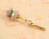 Blessingway bead - Golden Rose Petals Goddess - Mother Blessing bead, mama goddess