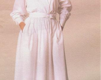 1980s Ralph Lauren Womens Loose Fitting Top & Dirndl Skirt Vogue Sewing Pattern 1548 Size 12 Bust 34 Vintage Vogue American Designer