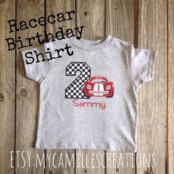 Racecar Birthday Shirt or Bodysuit