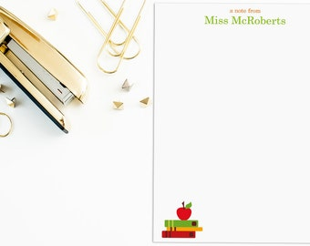 FREE SHIPPING -70 Page Personalized Teacher Notepad