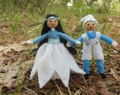 Winter Dolls, Miniature Nature Table Doll, Waldorf Bendy Dolls
