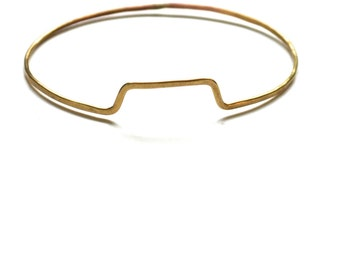 Table Rock Bangle - Hammered Brass Inspired by Geography
