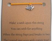 Joy Christmas or Baby WISH STRING Bracelet Charm Band JOY Cord Color Choice