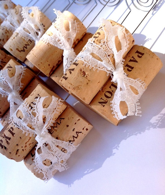 Wine Cork Table Numbers: Lace Table Number Holder Wine Cork Table Number Stand
