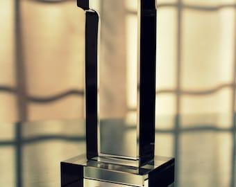 "Custom Engraved Crystal ""No. 1"" Award | Paperweight"