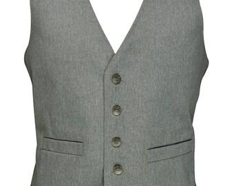40 Short Light Brown and White Vest