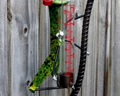 Green Grasshopper Rain Gauge
