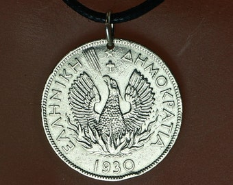 Greece Coin // GREECE NECKLACE //  GREEK Gift //  coin jewelry //  greek coin necklace  No.002013