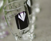 Groomsmen Tux pilsner glasses with for wedding party gifts. Best man and Groomsman gifts.  Groom gift, Groom glass. Beer glass for wedding