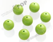 20mm - 100 PACK Lime Green Gumball Beads, Bulk Gumball Beads, Wholesale Gumball Beads, Wholesale Chunky Beads, 20mm Beads, 3.5mm Hole