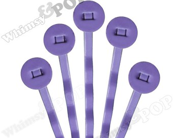 25 PACK - Lavender Purple Bobby Pins, Bobby Pin Blanks, Color Bobby Pins, Bobbie Pins, 50mm wide, 8mm Glue Pad (R7-159)