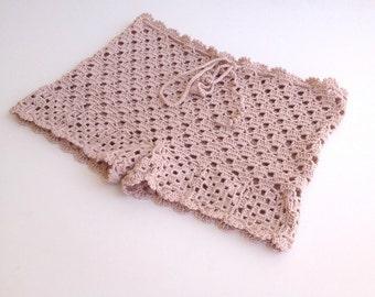 powder pink Crochet Beach Shorts Lace Shorts Swimwear Crochet Womens Clothing Beach Shorts Summer Short Swimsuit Mini Shorts  senoaccessory